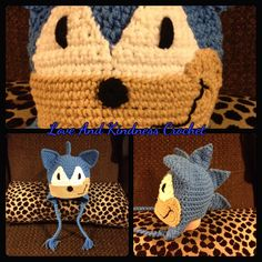 Sonic The Hedgehog Hat - comes in ALL sizes! - 0-2yrs $15, 3-10yrs $20, and 11yrs+ $25 - shipping is $5