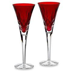 Waterford® Lismore Crimson Toasting Flute (Set of 2)