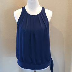 Cute Side Tie Top Adorable top, great to pair wit pants or a skirt. I have one other in my closet in pink. If you like this one, check it out! Apt. 9 Tops Blouses