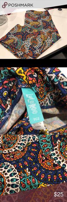 Colorful Lularoe TC2 leggings Super pretty TC2 leggings, new without tags. LuLaRoe Pants Leggings