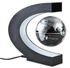 Rotation Magnetic Levitation Globe - Black + Silver (EU Plug / AC - From for Euro Magnetic Levitation, Magnetic Toys, World Globes, Cool Gadgets, Computer Accessories, Black Silver, Cool Stuff, Stuff To Buy, Plugs