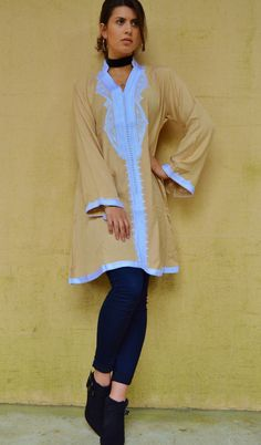 Beige Marrakech Dress - perfect for christmas gifts, birthday gifts, resort wear, party,casual dress, moroccan dress, winter dress, boho by MaisonMarrakech on Etsy