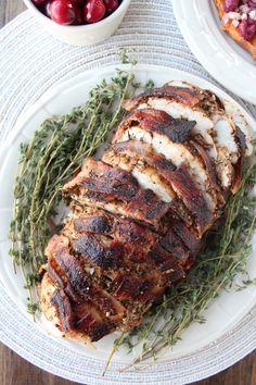 Garlic Herb Bacon Wrapped Turkey Breast