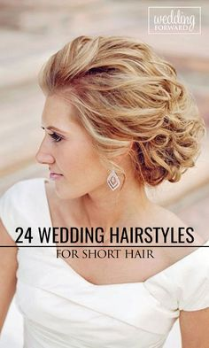Creative #wedding hairstyles for short hair that are so good you'd want to cut your hair. Perfect for elegant, rustic or boho themed weddings.  See more: http://www.weddingforward.com/wedding-hairstyle-ideas-for-short-hair/ #weddinghairstyles
