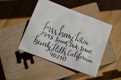 Custom Modern Wedding Calligraphy Envelope Addressing by PicklesJones on Etsy