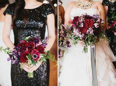 bridesmaids + bride bouquet variation
