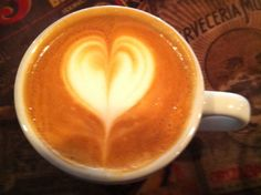 Latte art love heart