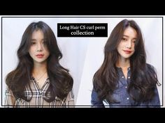 Women's Long Hair C curl and S curl perm style - Y Korean Hairstyle Long, Korean Long Hair, Korean Hairstyles Women, Korean Hair Color, Redhead Hairstyles, Permed Hairstyles, Japanese Hairstyles, Asian Hairstyles, Men Hairstyles