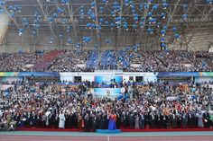 On September a global peace festival celebrating the Annual Commemoration of the World Alliance of Religions' Peace (WARP) . Sports And Politics, City Photo, Hold On, Religion, Korea, Peace, Entertaining, Countries, Celebrities