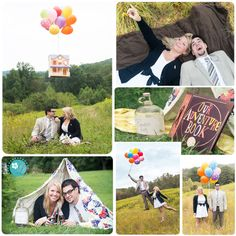 """This is probably one of my most favorite """"themed"""" engagement sessions that I have done. LOVE IT!!! ... inspired by the movie UP"""