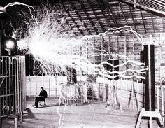 Nicola Tesla in his lab