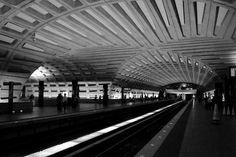 Washington DC Metro designed by architect Harry Weese