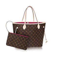 Louis Vuitton Neverfull in monogram canvas with pivoine interior