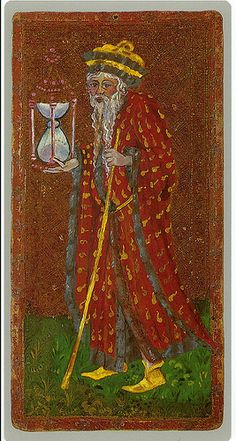 The Hermit - Cary-Yale Visconti Tarot Deck