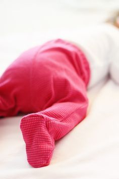 Baby footed pants pattern - love these (no socks needed!) but they're hard to find and never in cute patterns