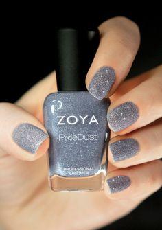 Such a stylish new trend of matte glitter nail polish!