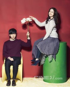 Love Forecast's Lee Seung Gi and Moon Chae cover issue no. 986 of and the two get pretty flirty in front of a Valentine red backdrop for their pictorial. Korean Celebrities, Korean Actors, Korean Dramas, Love Forecast, Brilliant Legacy, Do Bong Soon, Ha Ji Won, Moon Chae Won, Lee Seung Gi