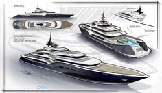 Yacht Dash Concept by Newcruise - Design Development Big Yachts, Luxury Yachts, Yacht Design, Boat Design, Boat Sketch, Yacht World, Boat Drawing, Yacht Builders, Yacht Cruises