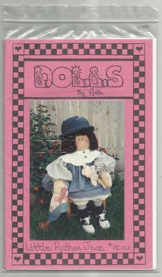 Little Ruthee Jean Dolls By Ruth #RC102 Sewing Pattern Girl Toy Home Decor #DollsByRuth