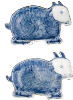 A PAIR OF BLUE AND WHITE KOSOMETSUKE SWEET MEAT DISHES MING DYNASTY, TIANQI PERIOD - Sotheby's