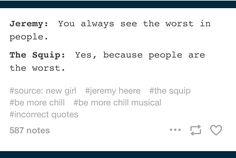 Squip has never been more relatable.