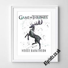 GAME OF THRONES  house baratheon Watercolor Poster Print