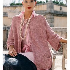 The outlook is rosy in Vladimir Teriokhin's swingy A-line jacket. Designed to…