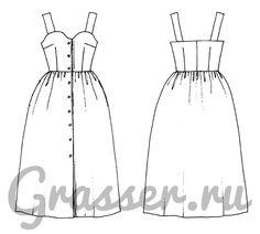 Платье, выкройка №481 купить on-line