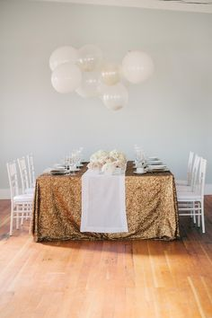 Styled Soirée | Modern, Fun + Festive - to see more: http://www.theperfectpalette.com/ Photo by Christa-Taylor, Styling by Champagne Wedding...