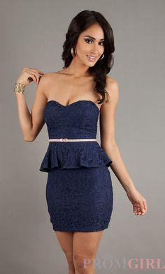 prom dress with peplum