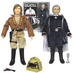 Battlestar Galactica Lt. Starbuck and Cdr. Adama Figures - Bif Bang Pow! - Battlestar Galactica - Action Figures at Entertainment Earth