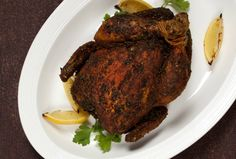 Roasted Chicken in Dry Spice Rub - this recipe from Joy of Kosher makes a big batch of a great all-purpose spice rub for roast chicken and turkey (you use 1/3 cup of it to roast 2 chickens in the recipe).