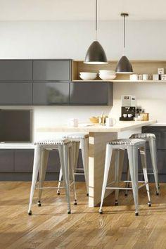 Die 48 besten Bilder auf Küche mit Bartheke | Open plan kitchen ...