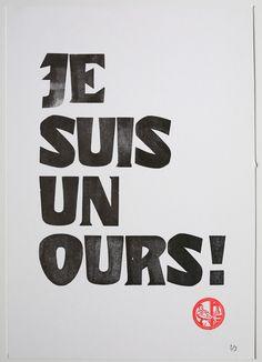 Poster typo Flaubert : Affiches, illustrations, posters par ampersand-press-lab