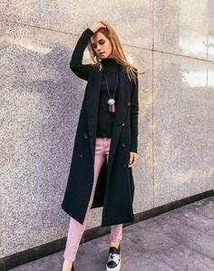 Розовые джинсы скини
