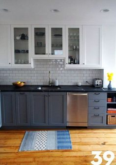 Will you consider cabinet refacing ideas? if you're looking to give your cabinets a refacing, have a look at these primary Kitchen Cabinet Refacing Ideas. Blue Kitchen Cabinets, Refacing Kitchen Cabinets, Upper Cabinets, Kitchen Redo, Kitchen Dining, Black Kitchen Countertops, Repainted Kitchen Cabinets, Diy Cabinet Refacing, Refinish Cabinets