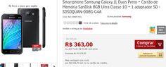 """Samsung Galaxy J1 Dual chip Tela 4.3"""" 4G Câm.de 5MP e Frontal de 2MP  Cartão MicroSd de 8Gb << R$ 30670 >>"""