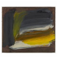 Howard Hodgkin   Yellow Sky  2009 - 2010  Painting  Oil on wood