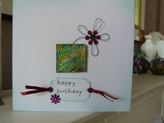 Square Celtic Daisy Birthday Card £2.25