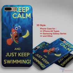keep calm and just keep swimming 1 - Personalized iPhone 7 Case, iPhone 6/6S Plus, 5 5S SE, 7S Plus, Samsung Galaxy S5 S6 S7 S8 Case, and Other