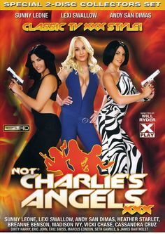 NOT CHARLIES ANGELS XXX - The Angels get fucked, sucked and totally banged in this fantastic porn parody of the classic television show. Director Will Ryder (Not the Bradys XXX) delivers the most entertaining porn movie of the year as beautiful horny girls come face-to-face with dangerous sex-crazed situations.