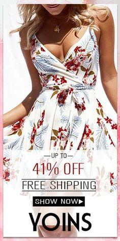 White Floral Print Crossed Front V-neck Sleeveless Mini Dress