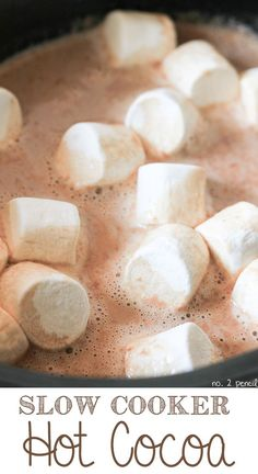 Slow Cooker Hot Cocoa. A crowd pleaser.