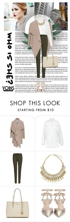 """""""Who is she?"""" by sabinakopic ❤ liked on Polyvore featuring Chantal, Harris Wharf London, MICHAEL Michael Kors, Valentino and vintage"""