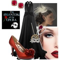 """Outfit Inspired by The Phantom of the Opera"" by naomiclarke95 on Polyvore"
