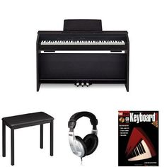 Casio PX860 BK Privia Digital Home Piano Bundle with Casio CB7 Bench, Behringer Headphones, and FastTrack Music Instruction Book * You can find more details by visiting the image link.