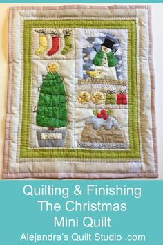 Quilting & Finishing The Christmas Mini Quilt How To Finish A Quilt, Christmas Minis, Quilt Studio, Quilts, Quilting Ideas, Frame, Holiday, Pattern, Decor