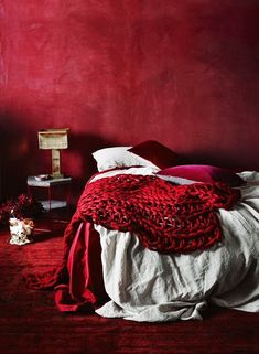 25 Ways To Incorporate Red Into Bedroom Decor. How To Decorate Bedroom For Romantic Night Bedroom Red, Bedroom Colors, Red Accent Bedroom, Burgundy Bedroom, Trendy Bedroom, Red Interiors, Colorful Interiors, Red Home Decor, Red Rooms
