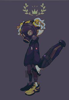 Splatoon 2 Art, Splatoon Comics, Splat Tim, Video Game Anime, Cute Games, Cool Anime Girl, Pokemon, Amazing Art, Art Drawings