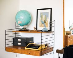 like this shelf and how it's styled